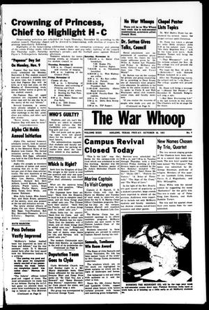 Primary view of object titled 'The War Whoop (Abilene, Tex.), Vol. 31, No. 7, Ed. 1, Friday, October 30, 1953'.