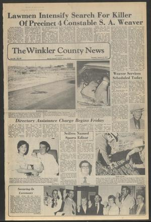 Primary view of object titled 'The Winkler County News (Kermit, Tex.), Vol. 40, No. 85, Ed. 1 Thursday, January 6, 1977'.