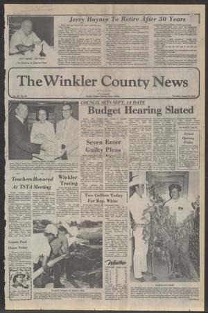 Primary view of object titled 'The Winkler County News (Kermit, Tex.), Vol. 40, No. 45, Ed. 1 Thursday, August 19, 1976'.