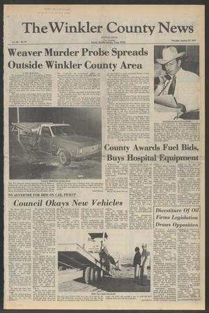 Primary view of object titled 'The Winkler County News (Kermit, Tex.), Vol. 40, No. 91, Ed. 1 Thursday, January 27, 1977'.