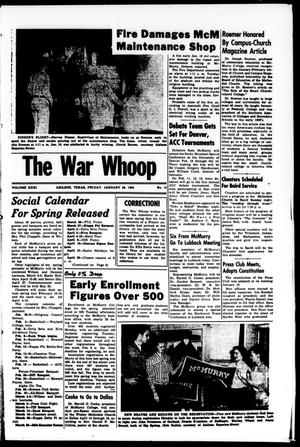 Primary view of object titled 'The War Whoop (Abilene, Tex.), Vol. 31, No. 15, Ed. 1, Friday, January 29, 1954'.