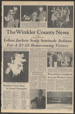 Primary view of object titled 'The Winkler County News (Kermit, Tex.), Vol. 40, No. 60, Ed. 1 Monday, October 11, 1976'.