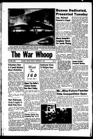 Primary view of object titled 'The War Whoop (Abilene, Tex.), Vol. 31, No. 16, Ed. 1, Friday, February 5, 1954'.