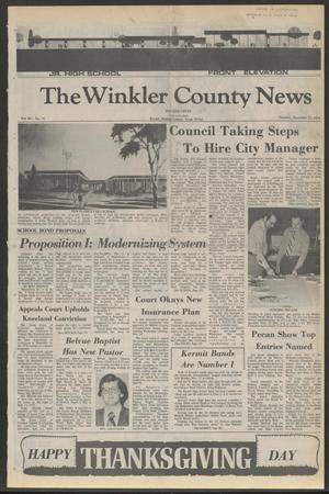 Primary view of object titled 'The Winkler County News (Kermit, Tex.), Vol. 40, No. 73, Ed. 1 Thursday, November 25, 1976'.