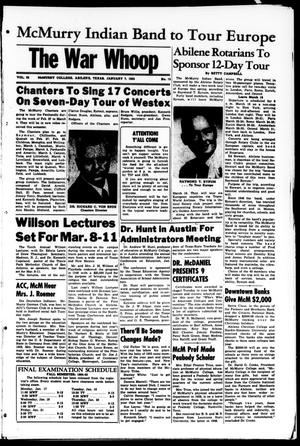 The War Whoop (Abilene, Tex.), Vol. 32, No. 15, Ed. 1, Friday, January 7, 1955