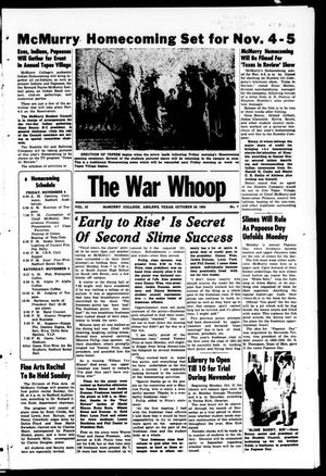 Primary view of object titled 'The War Whoop (Abilene, Tex.), Vol. 33, No. 7, Ed. 1, Friday, October 28, 1955'.