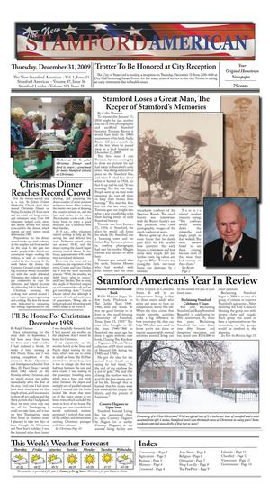 Primary view of object titled 'The New Stamford American (Stamford, Tex.), Vol. 1, No. 31, Ed. 1 Thursday, December 31, 2009'.