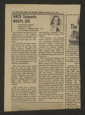 Primary view of object titled '[Clipping: NACV Supports WASPs Bill]'.
