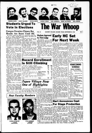 Primary view of object titled 'The War Whoop (Abilene, Tex.), Vol. 34, No. 3, Ed. 1, Friday, September 28, 1956'.