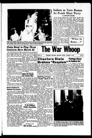 Primary view of object titled 'The War Whoop (Abilene, Tex.), Vol. 34, No. 21, Ed. 1, Thursday, March 14, 1957'.