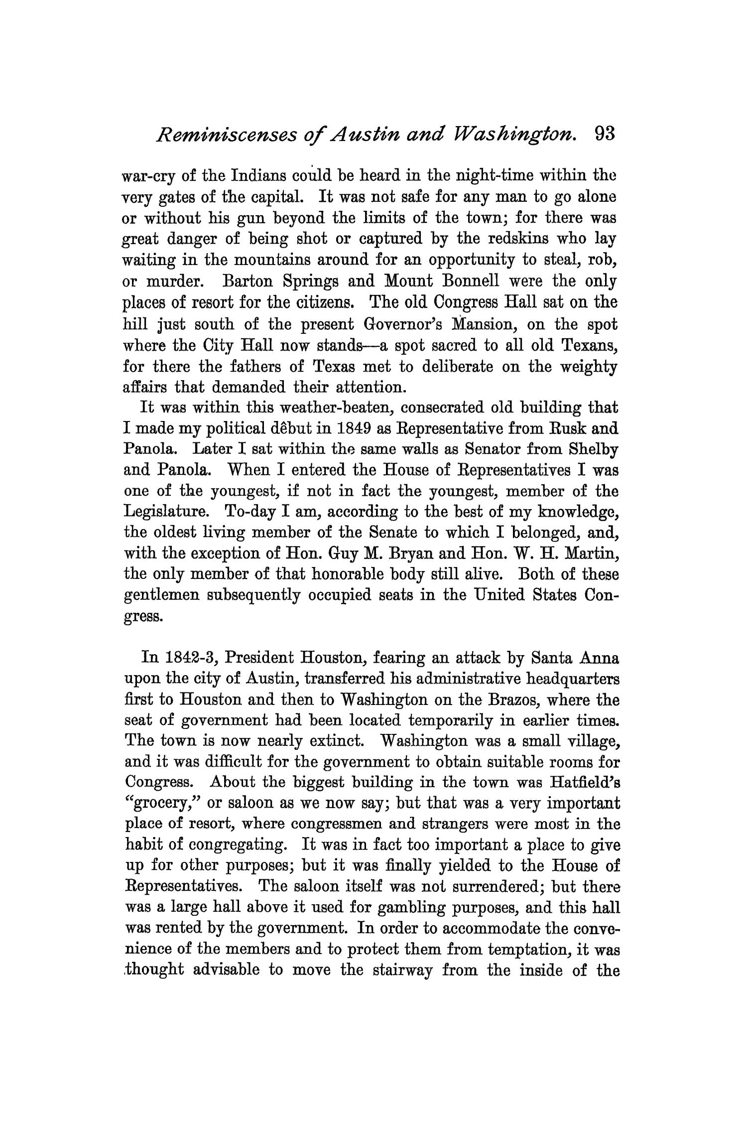 The Quarterly of the Texas State Historical Association, Volume 1, July 1897 - April, 1898                                                                                                      93