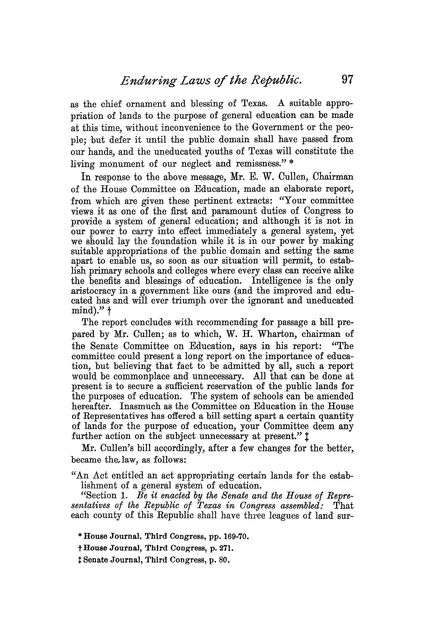 The Quarterly of the Texas State Historical Association, Volume 1, July 1897 - April, 1898                                                                                                      97
