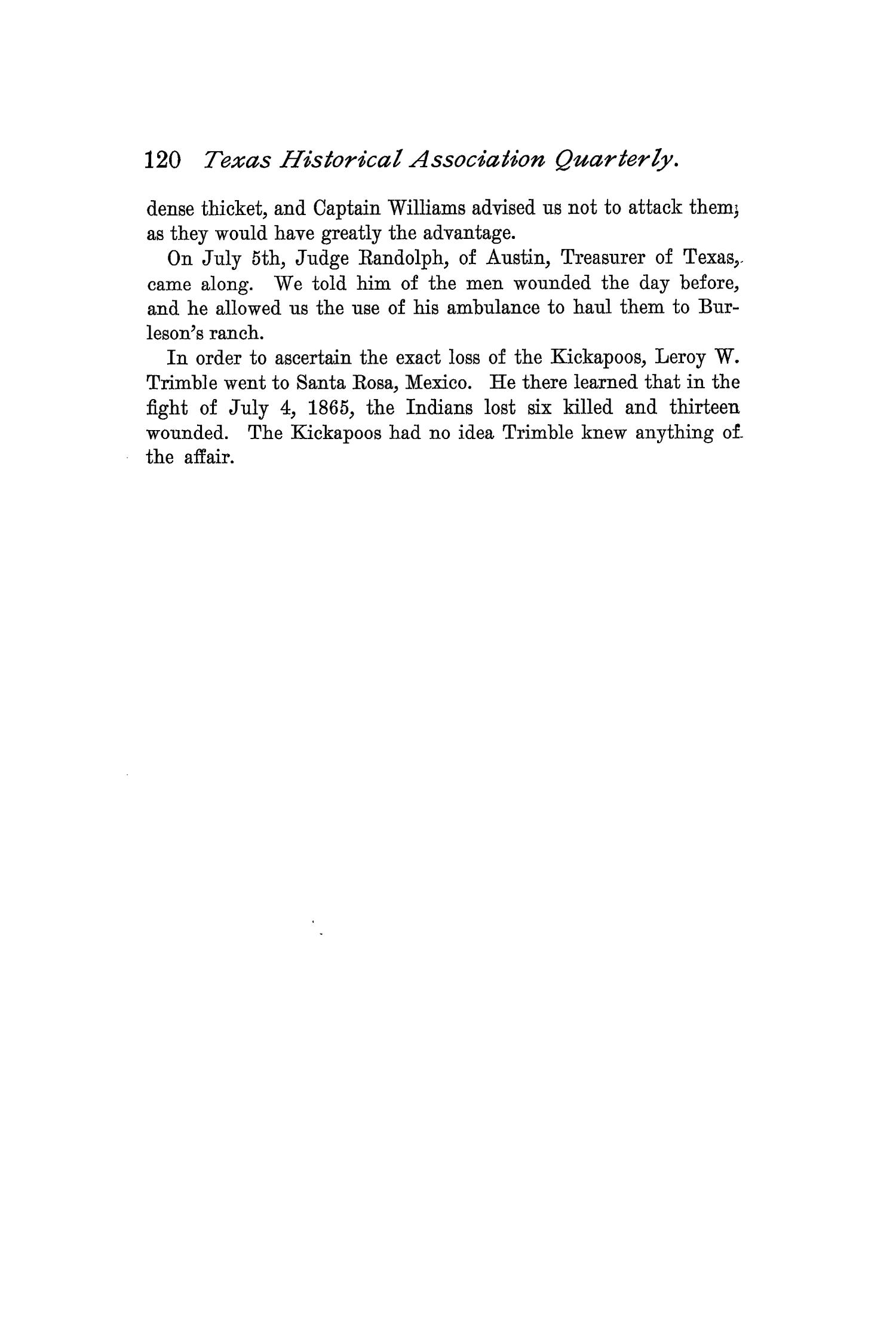 The Quarterly of the Texas State Historical Association, Volume 1, July 1897 - April, 1898                                                                                                      120