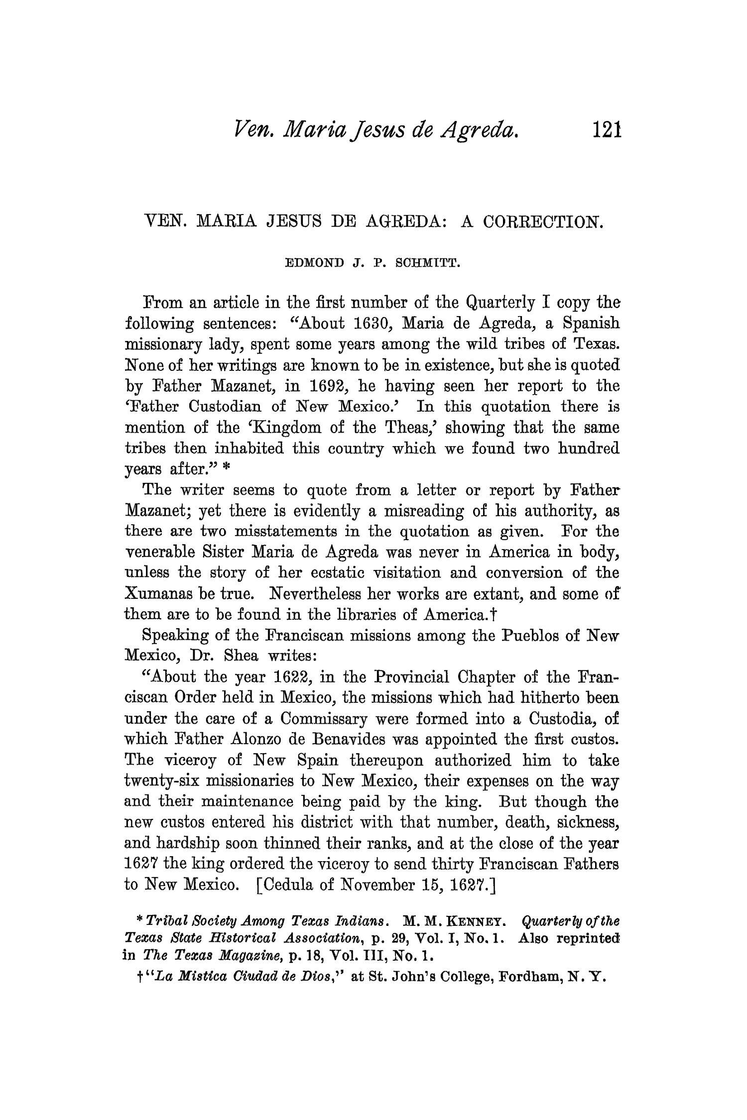The Quarterly of the Texas State Historical Association, Volume 1, July 1897 - April, 1898                                                                                                      121