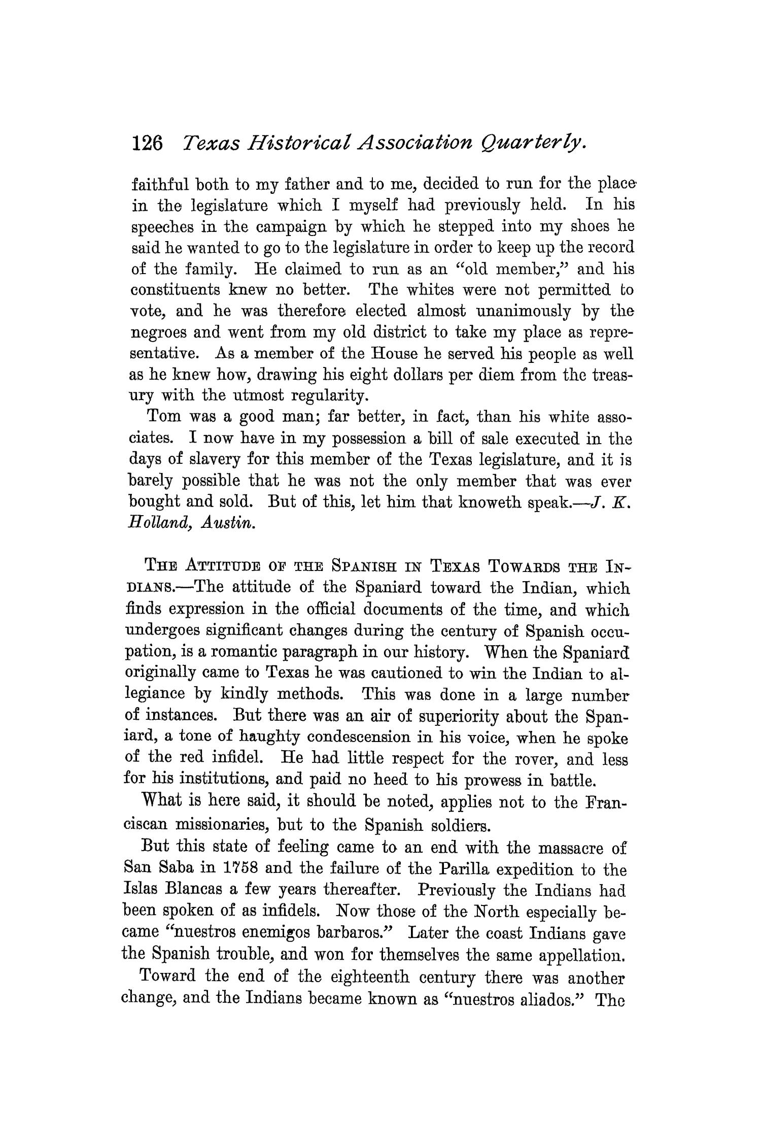 The Quarterly of the Texas State Historical Association, Volume 1, July 1897 - April, 1898                                                                                                      126