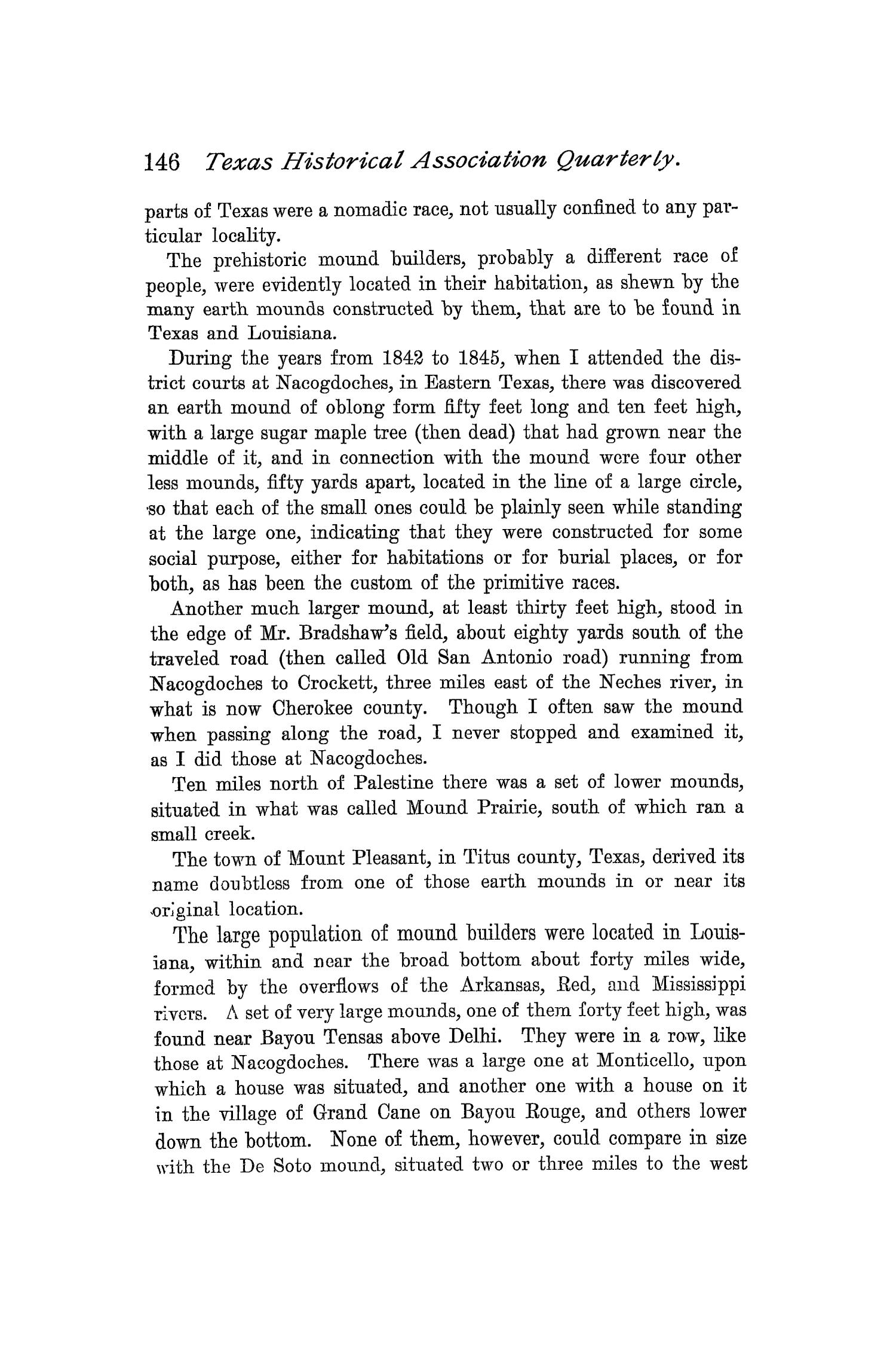 The Quarterly of the Texas State Historical Association, Volume 1, July 1897 - April, 1898                                                                                                      146