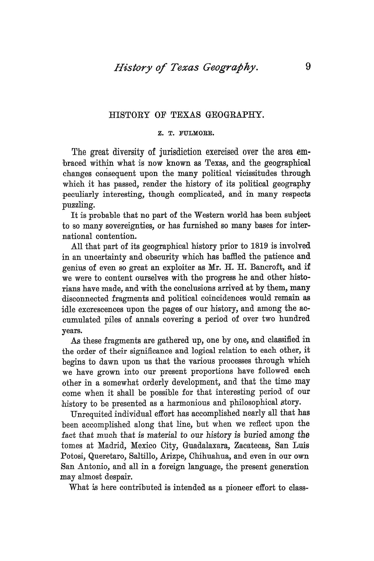 The Quarterly of the Texas State Historical Association, Volume 1, July 1897 - April, 1898                                                                                                      9