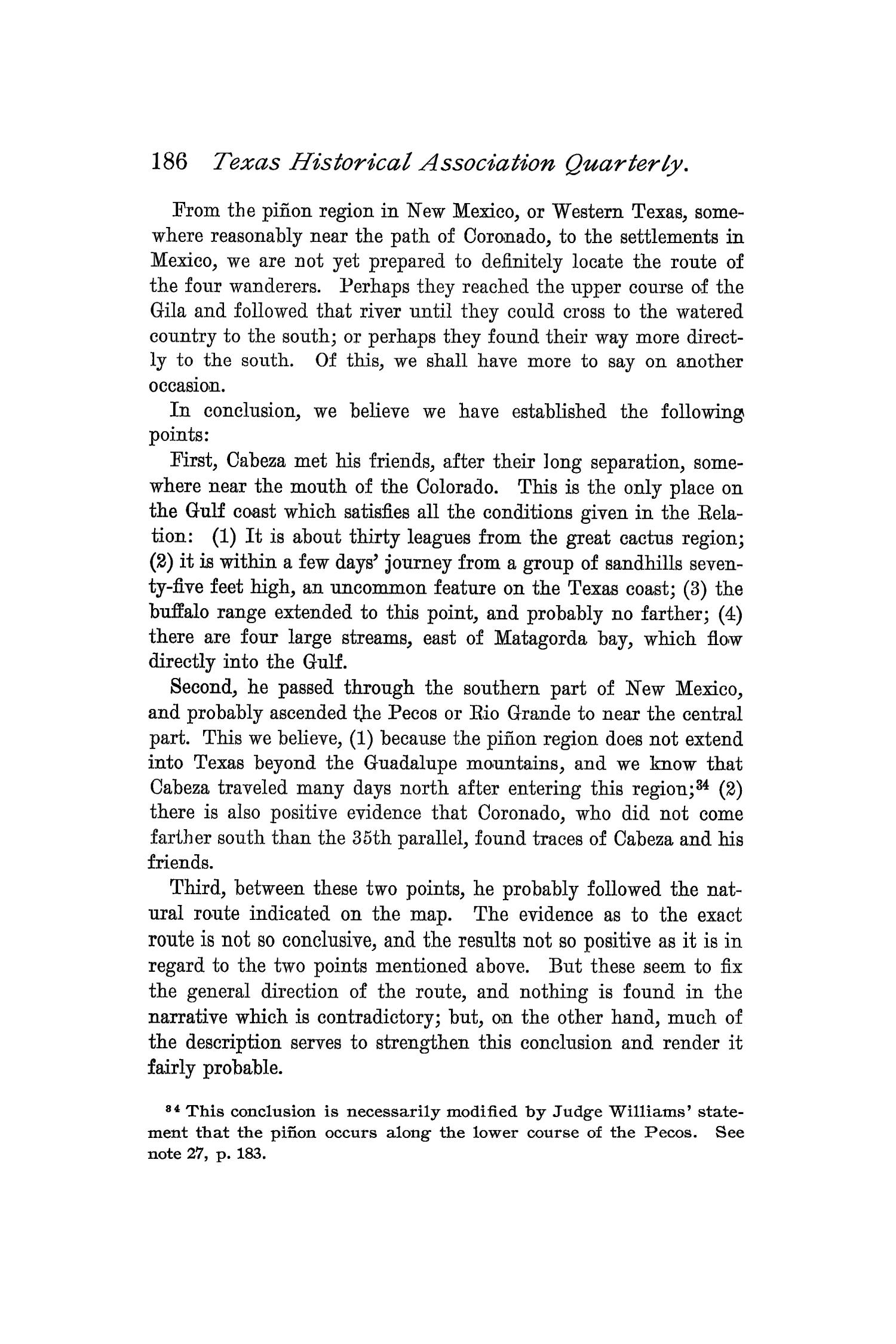 The Quarterly of the Texas State Historical Association, Volume 1, July 1897 - April, 1898                                                                                                      186