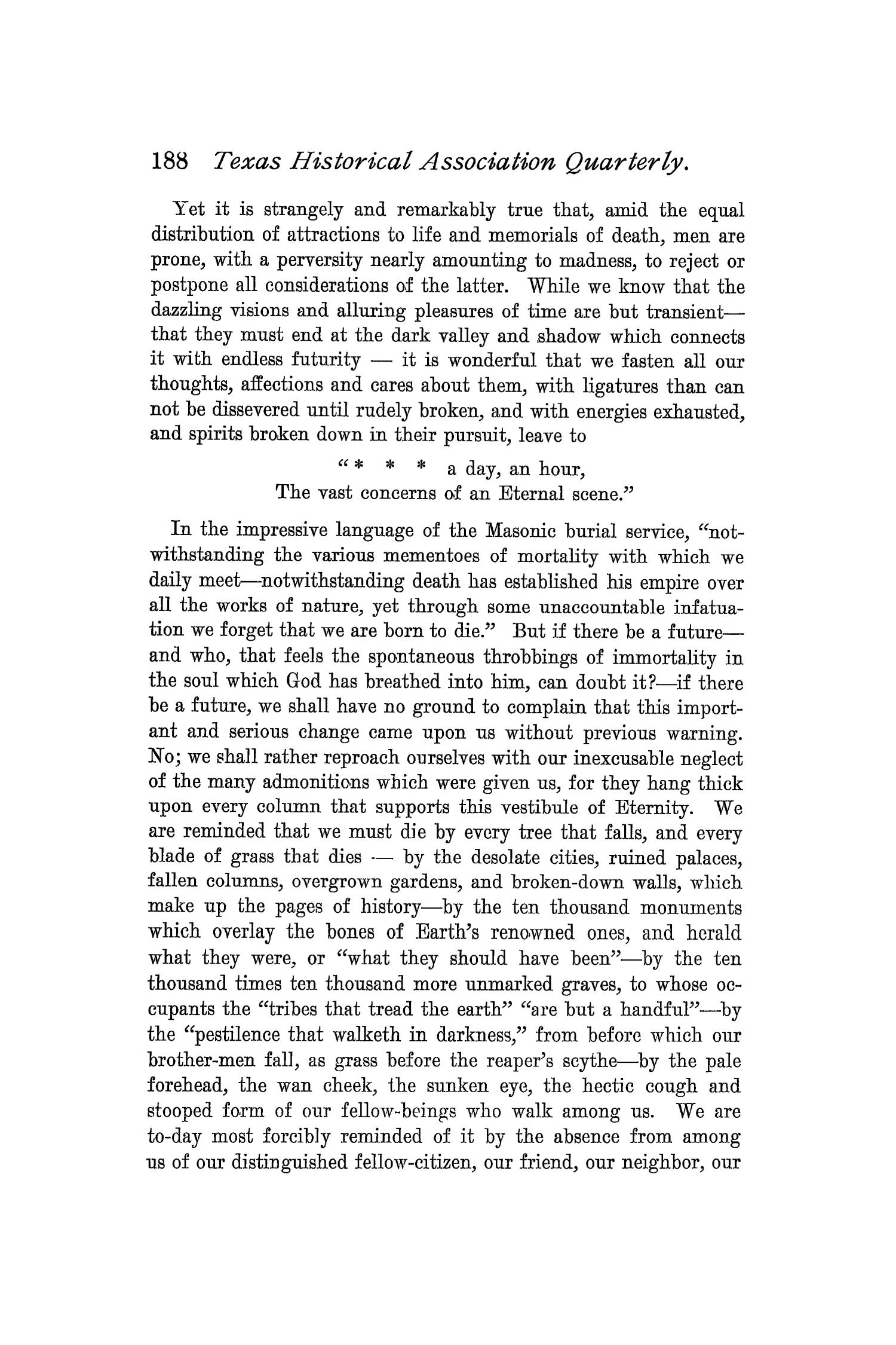 The Quarterly of the Texas State Historical Association, Volume 1, July 1897 - April, 1898                                                                                                      188