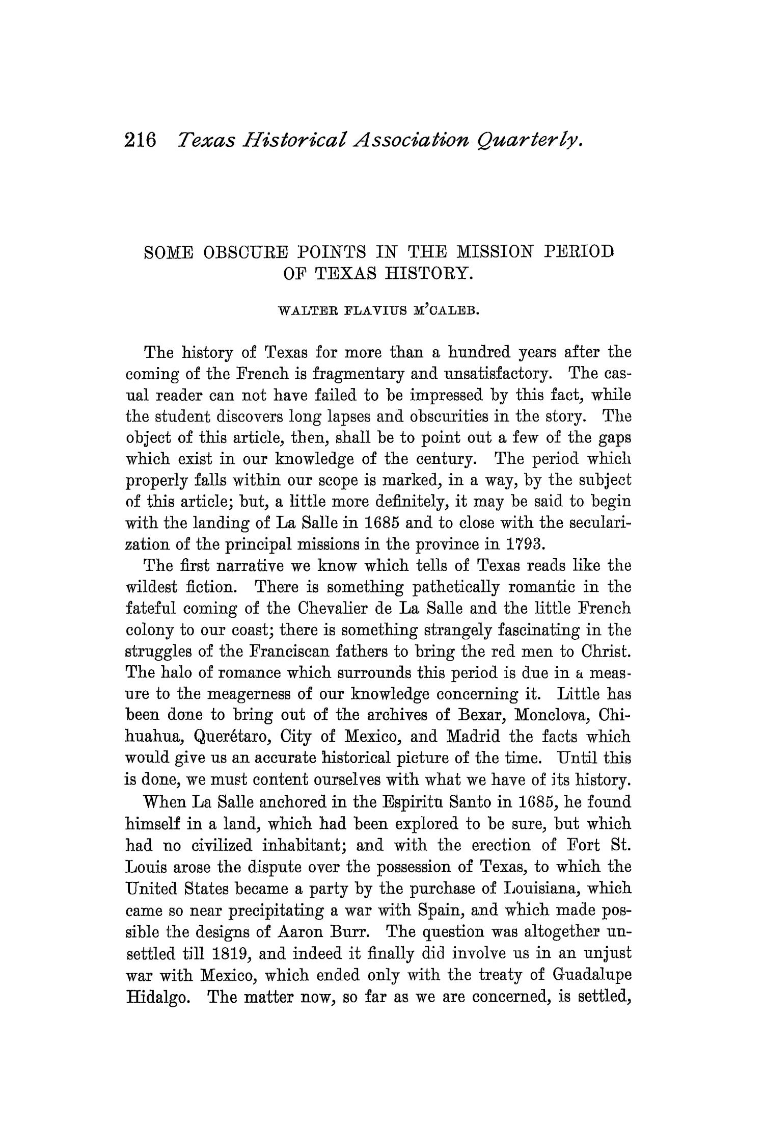 The Quarterly of the Texas State Historical Association, Volume 1, July 1897 - April, 1898                                                                                                      216