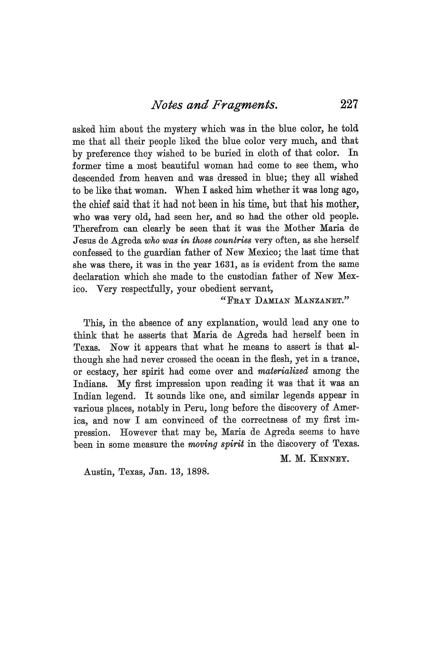 The Quarterly of the Texas State Historical Association, Volume 1, July 1897 - April, 1898                                                                                                      227