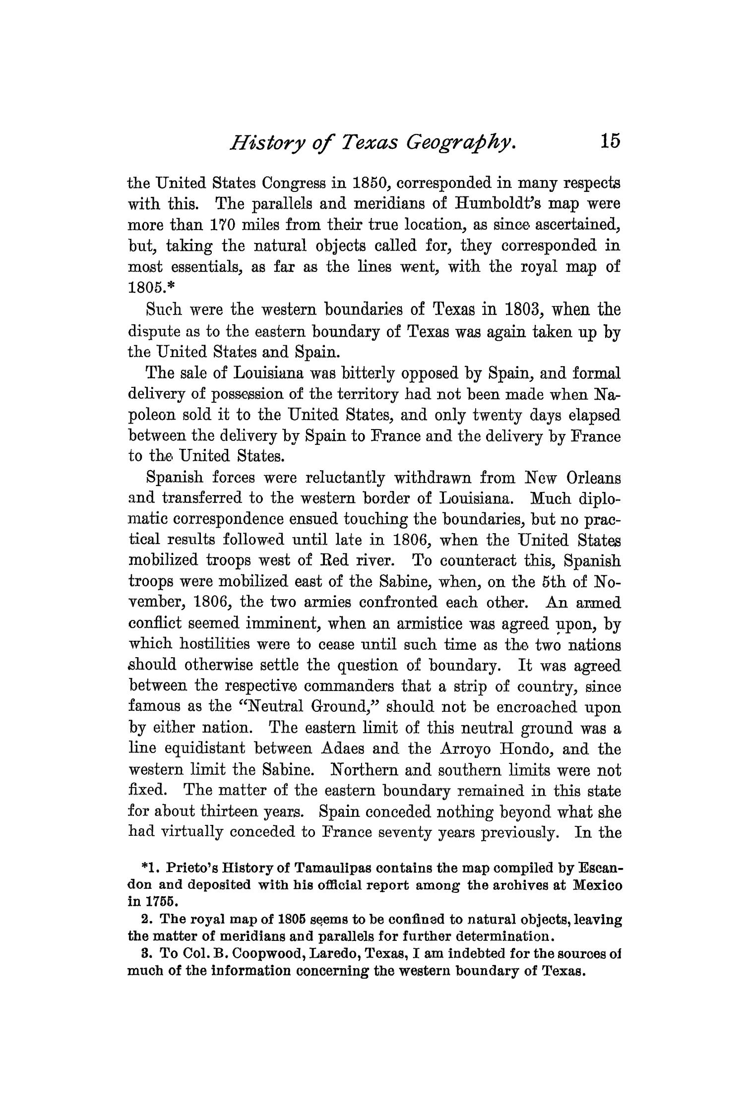 The Quarterly of the Texas State Historical Association, Volume 1, July 1897 - April, 1898                                                                                                      15