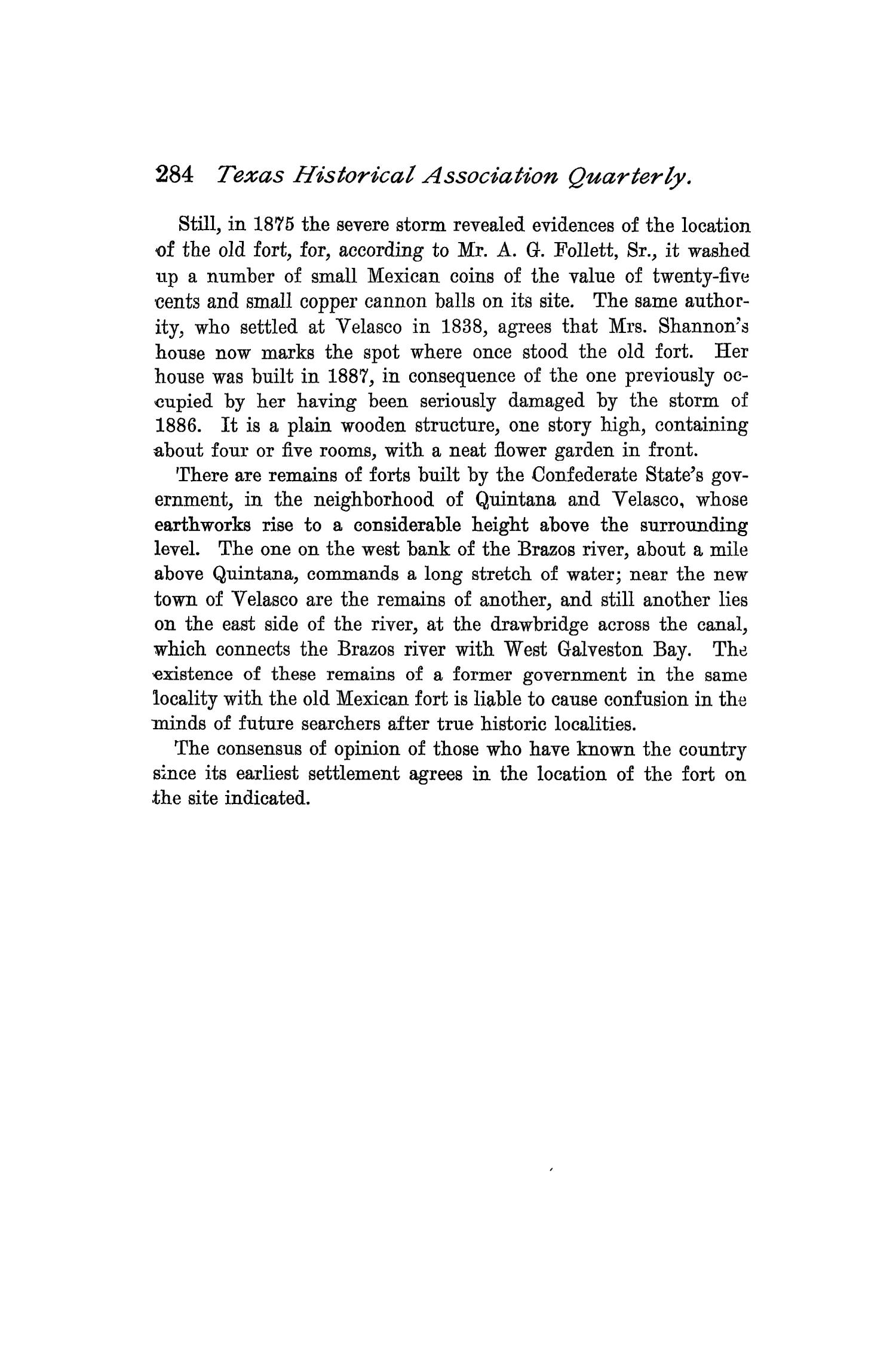 The Quarterly of the Texas State Historical Association, Volume 1, July 1897 - April, 1898                                                                                                      284