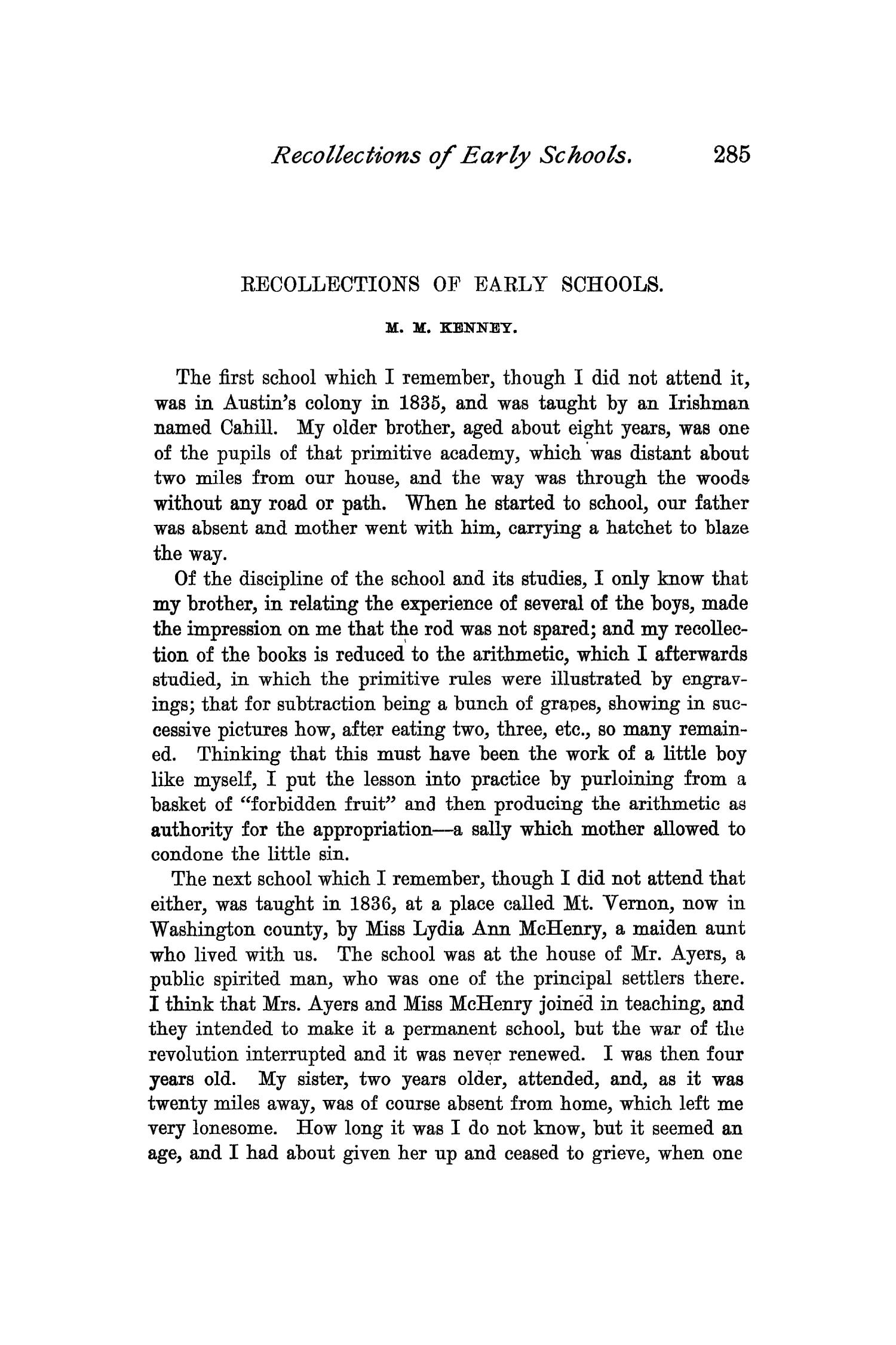 The Quarterly of the Texas State Historical Association, Volume 1, July 1897 - April, 1898                                                                                                      285