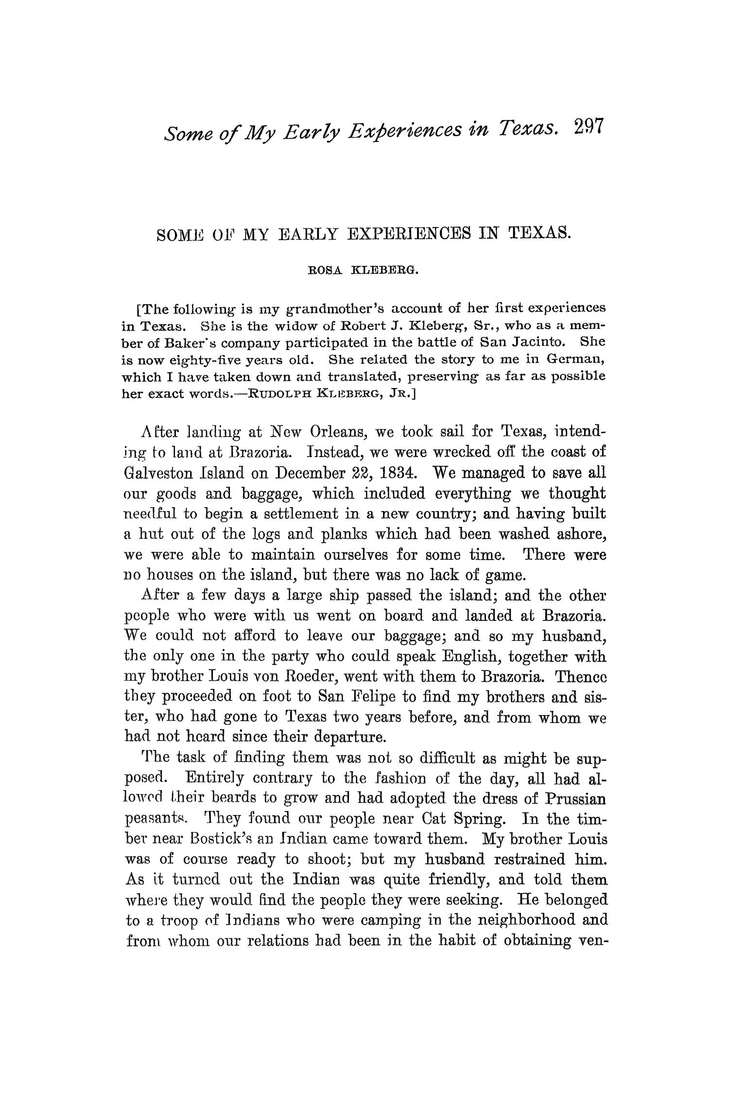 The Quarterly of the Texas State Historical Association, Volume 1, July 1897 - April, 1898                                                                                                      297