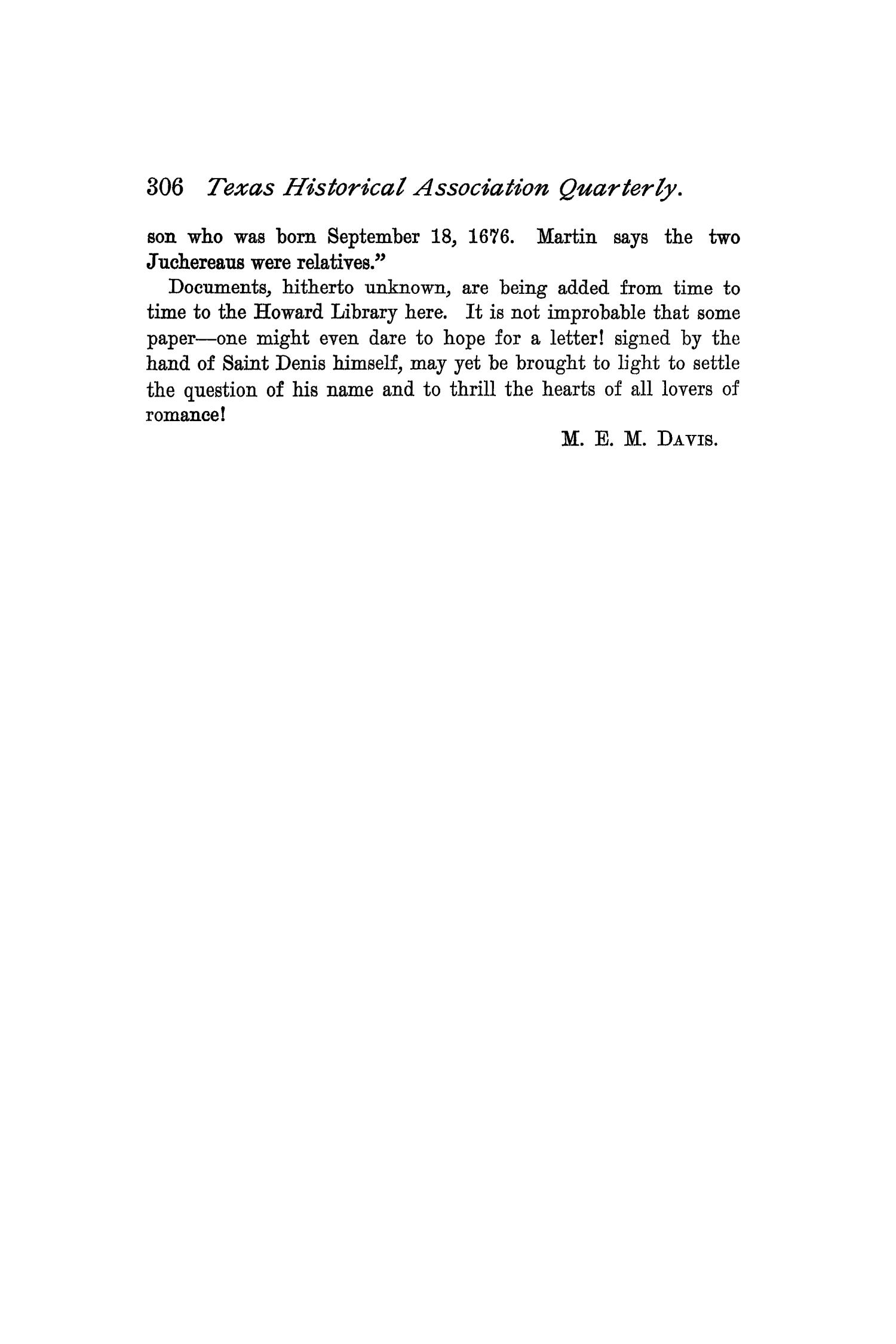 The Quarterly of the Texas State Historical Association, Volume 1, July 1897 - April, 1898                                                                                                      306