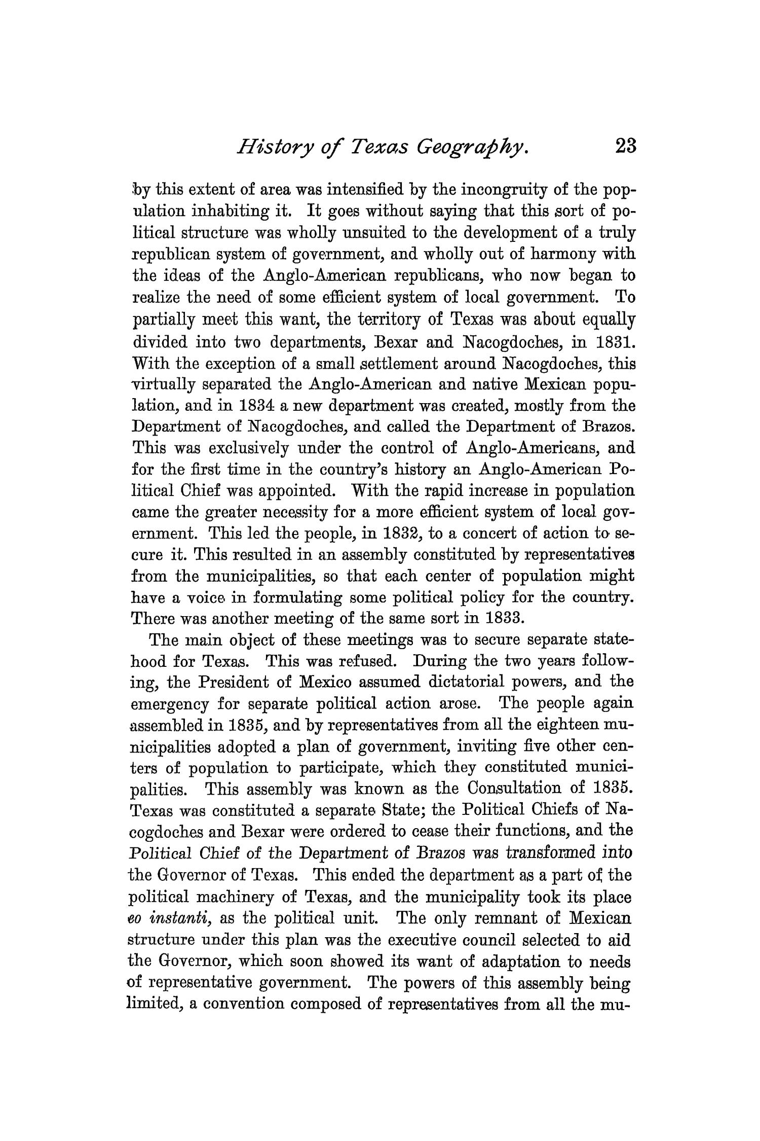 The Quarterly of the Texas State Historical Association, Volume 1, July 1897 - April, 1898                                                                                                      23