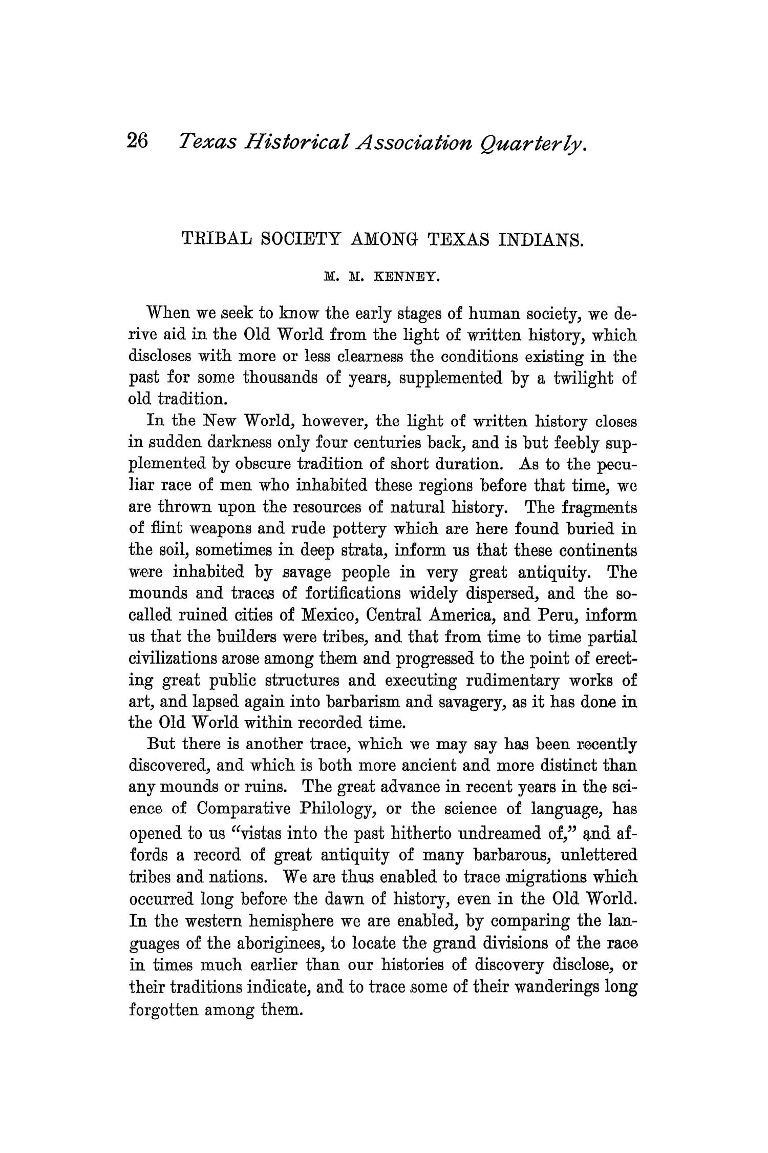 The Quarterly of the Texas State Historical Association, Volume 1, July 1897 - April, 1898                                                                                                      26