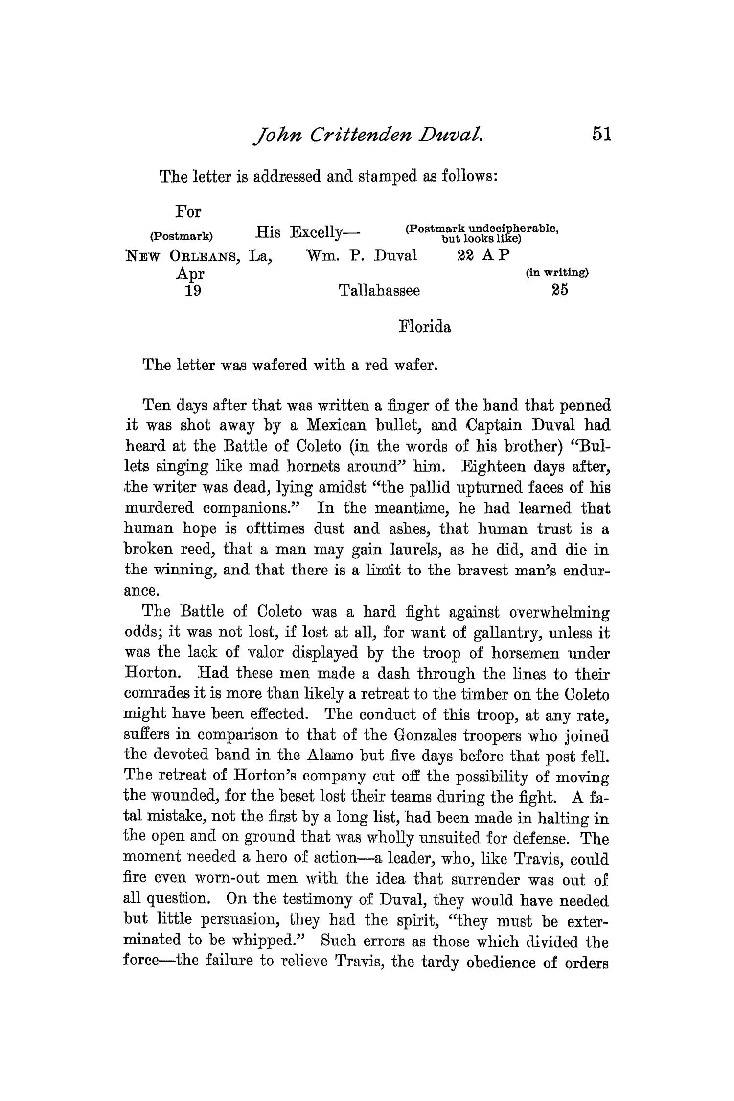 The Quarterly of the Texas State Historical Association, Volume 1, July 1897 - April, 1898                                                                                                      51