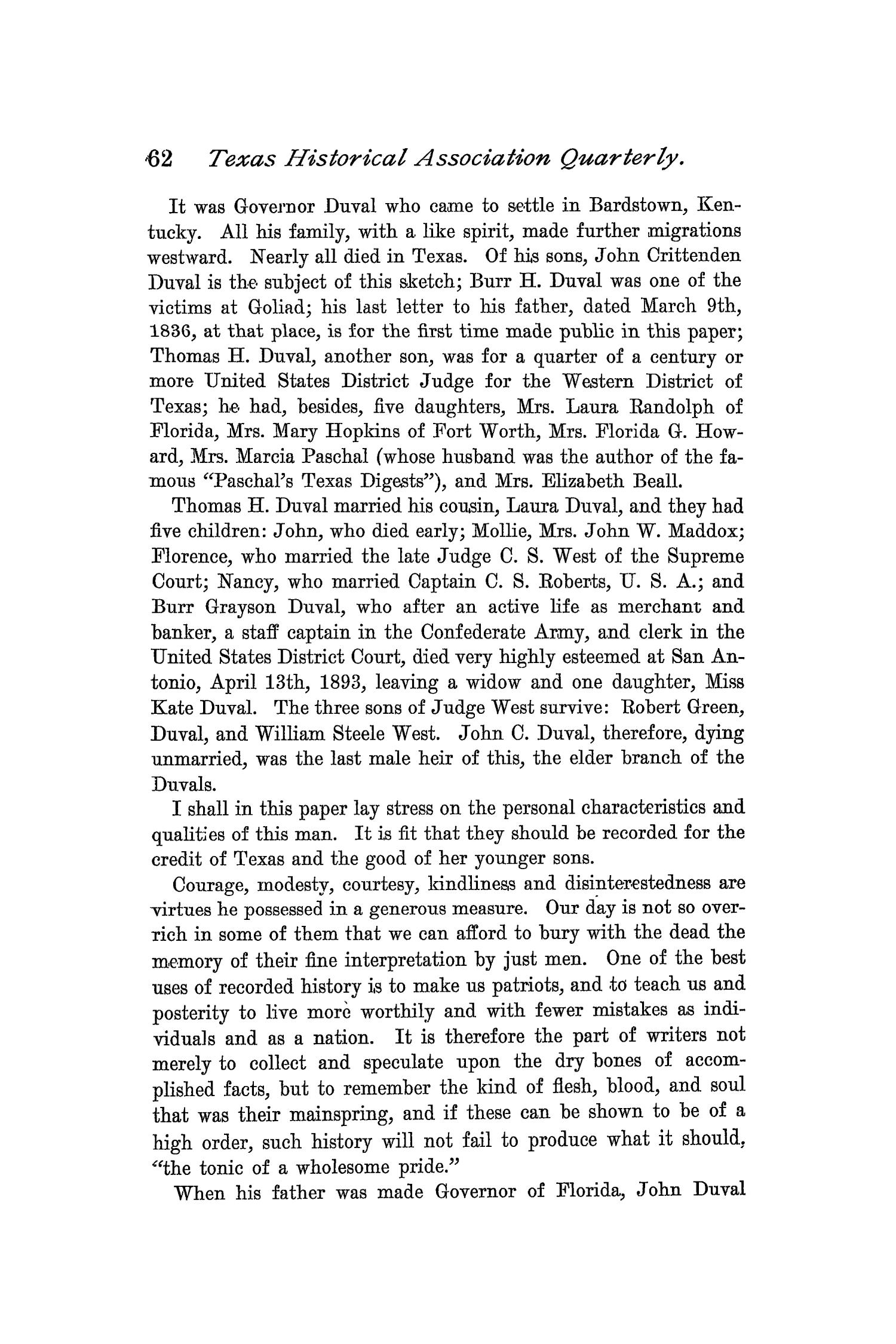 The Quarterly of the Texas State Historical Association, Volume 1, July 1897 - April, 1898                                                                                                      62