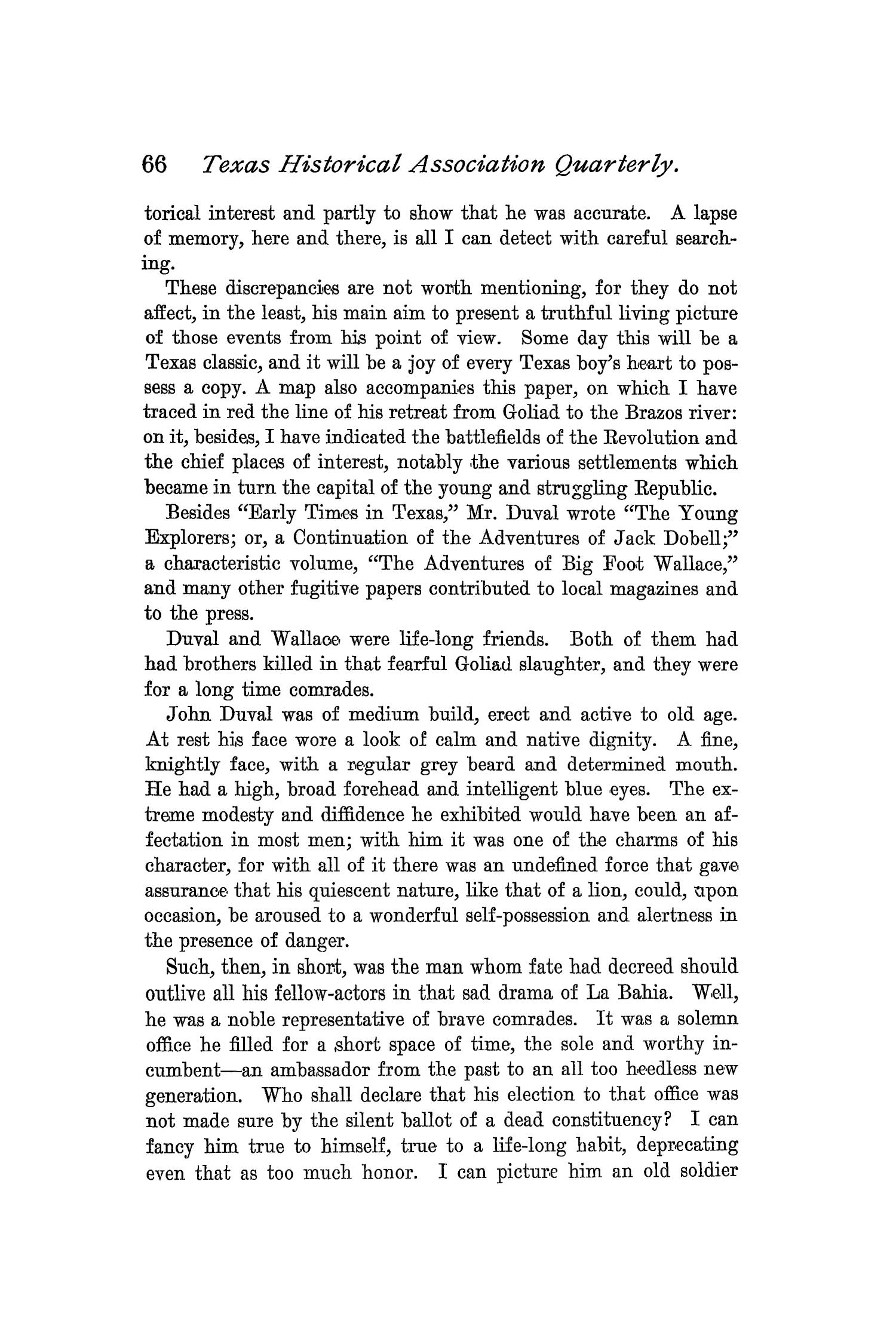 The Quarterly of the Texas State Historical Association, Volume 1, July 1897 - April, 1898                                                                                                      66