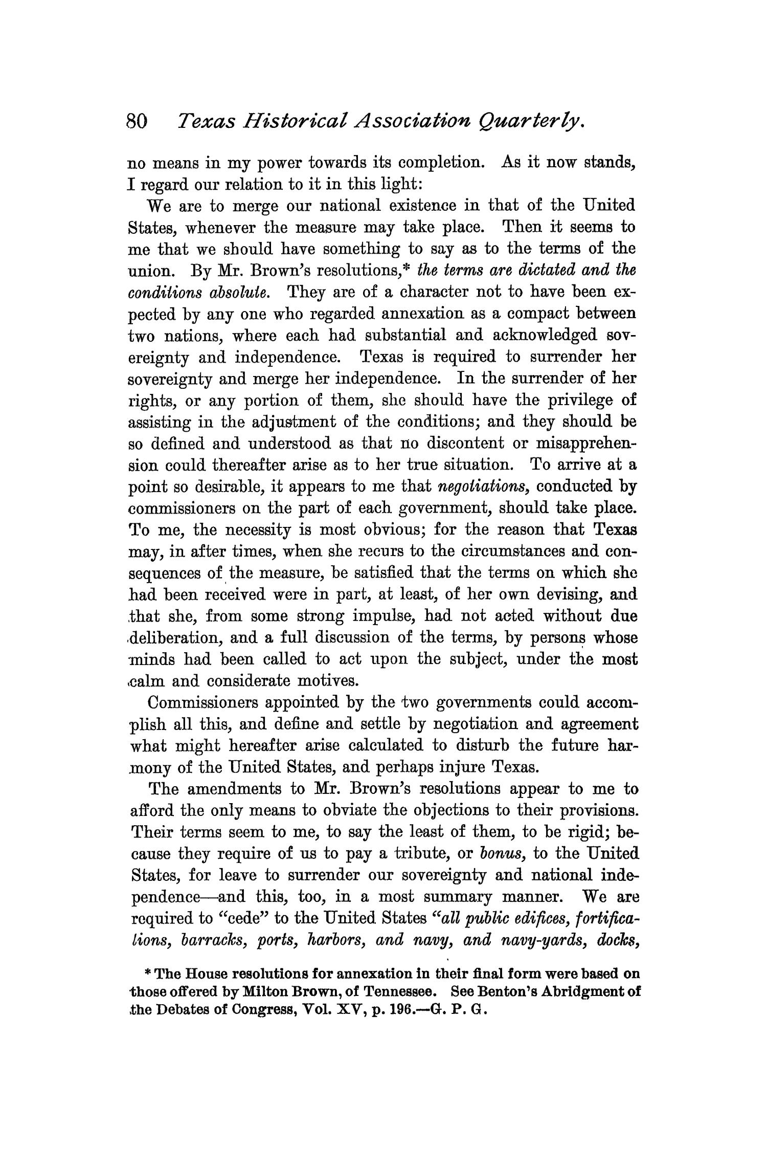 The Quarterly of the Texas State Historical Association, Volume 1, July 1897 - April, 1898                                                                                                      80