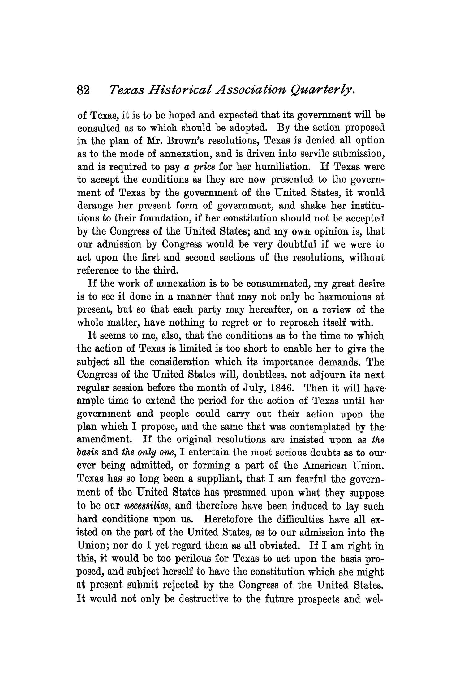 The Quarterly of the Texas State Historical Association, Volume 1, July 1897 - April, 1898                                                                                                      82