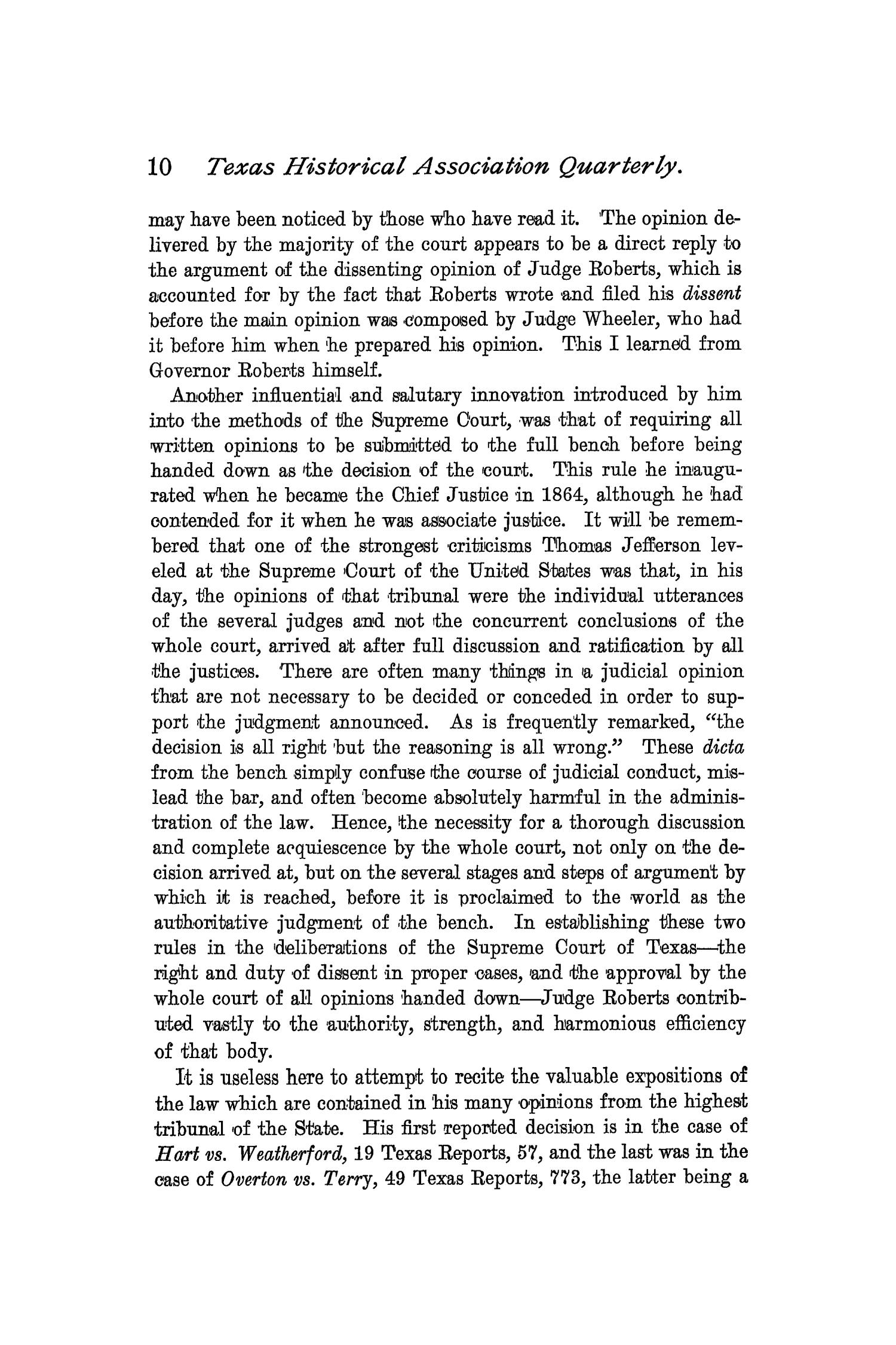 The Quarterly of the Texas State Historical Association, Volume 2, July 1898 - April, 1899                                                                                                      10