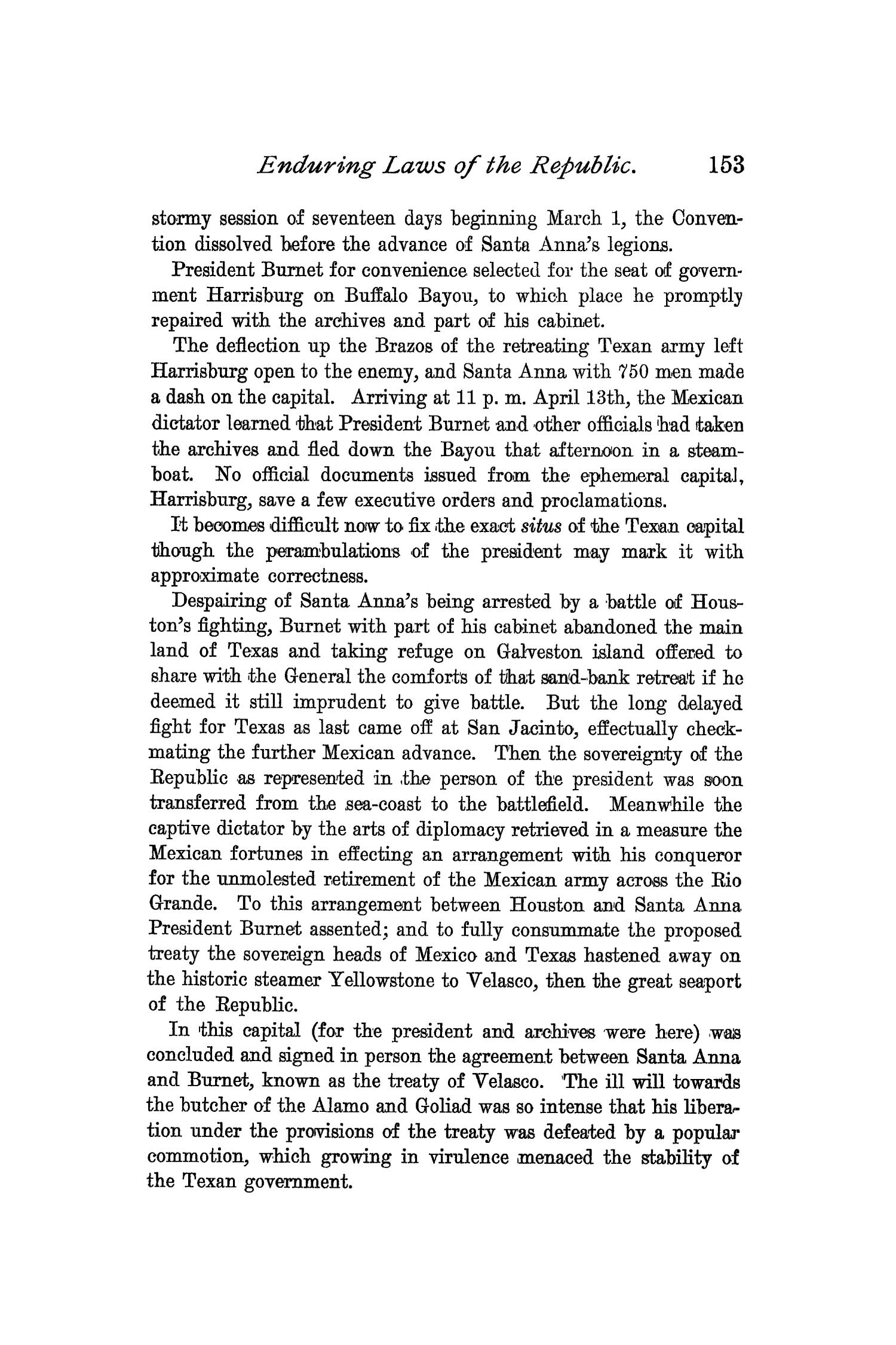 The Quarterly of the Texas State Historical Association, Volume 2, July 1898 - April, 1899                                                                                                      153