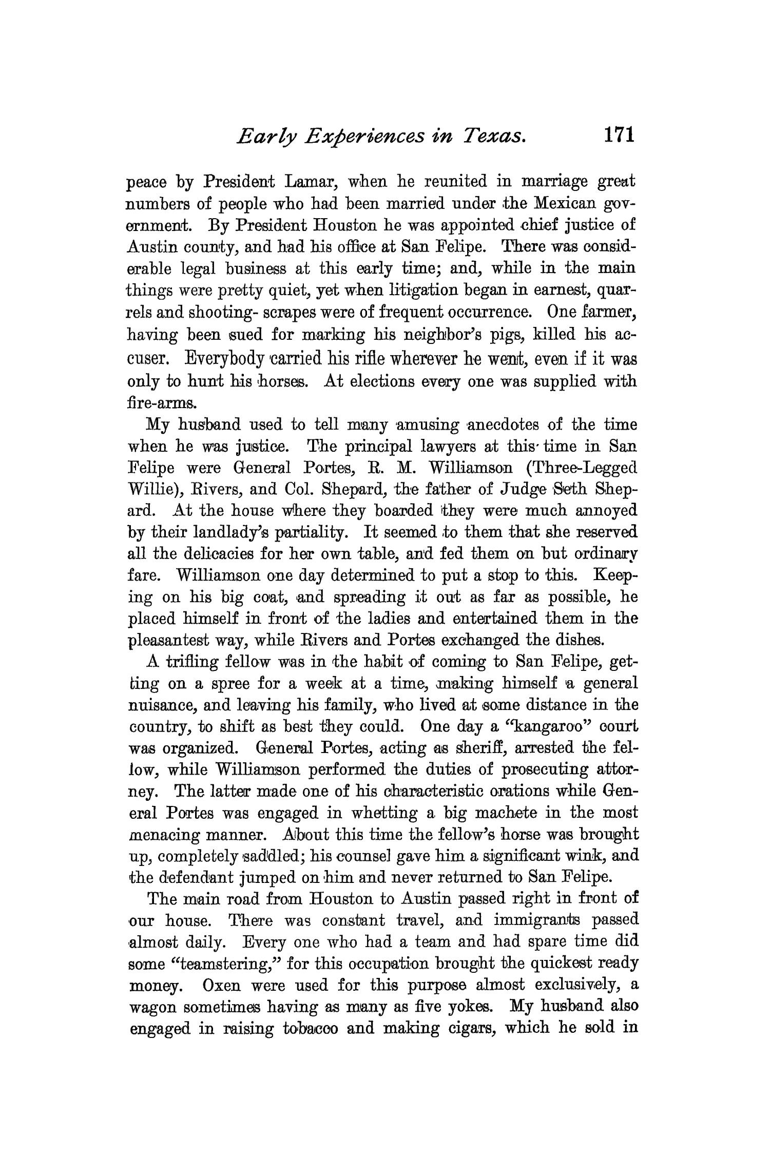 The Quarterly of the Texas State Historical Association, Volume 2, July 1898 - April, 1899                                                                                                      171