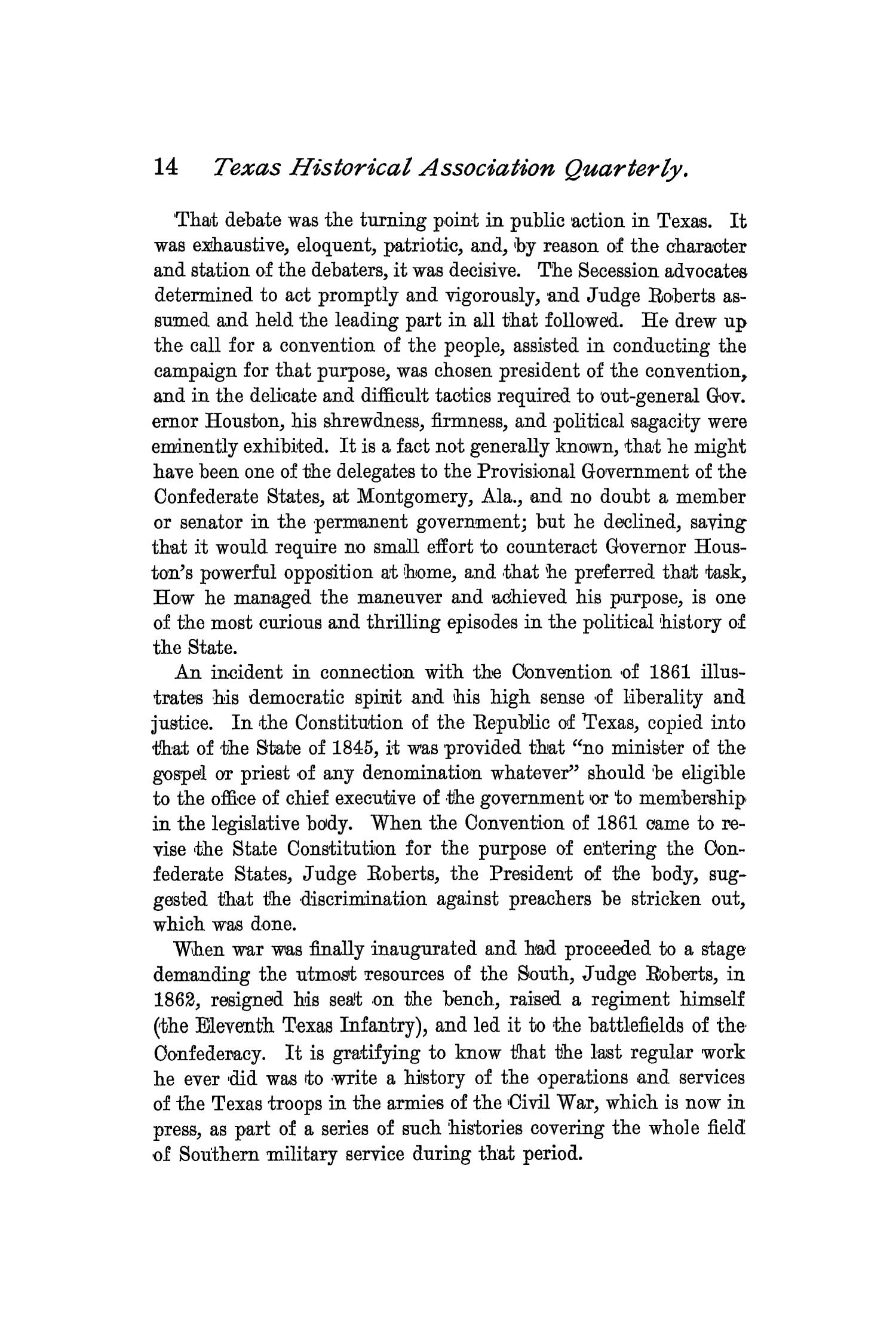 The Quarterly of the Texas State Historical Association, Volume 2, July 1898 - April, 1899                                                                                                      14