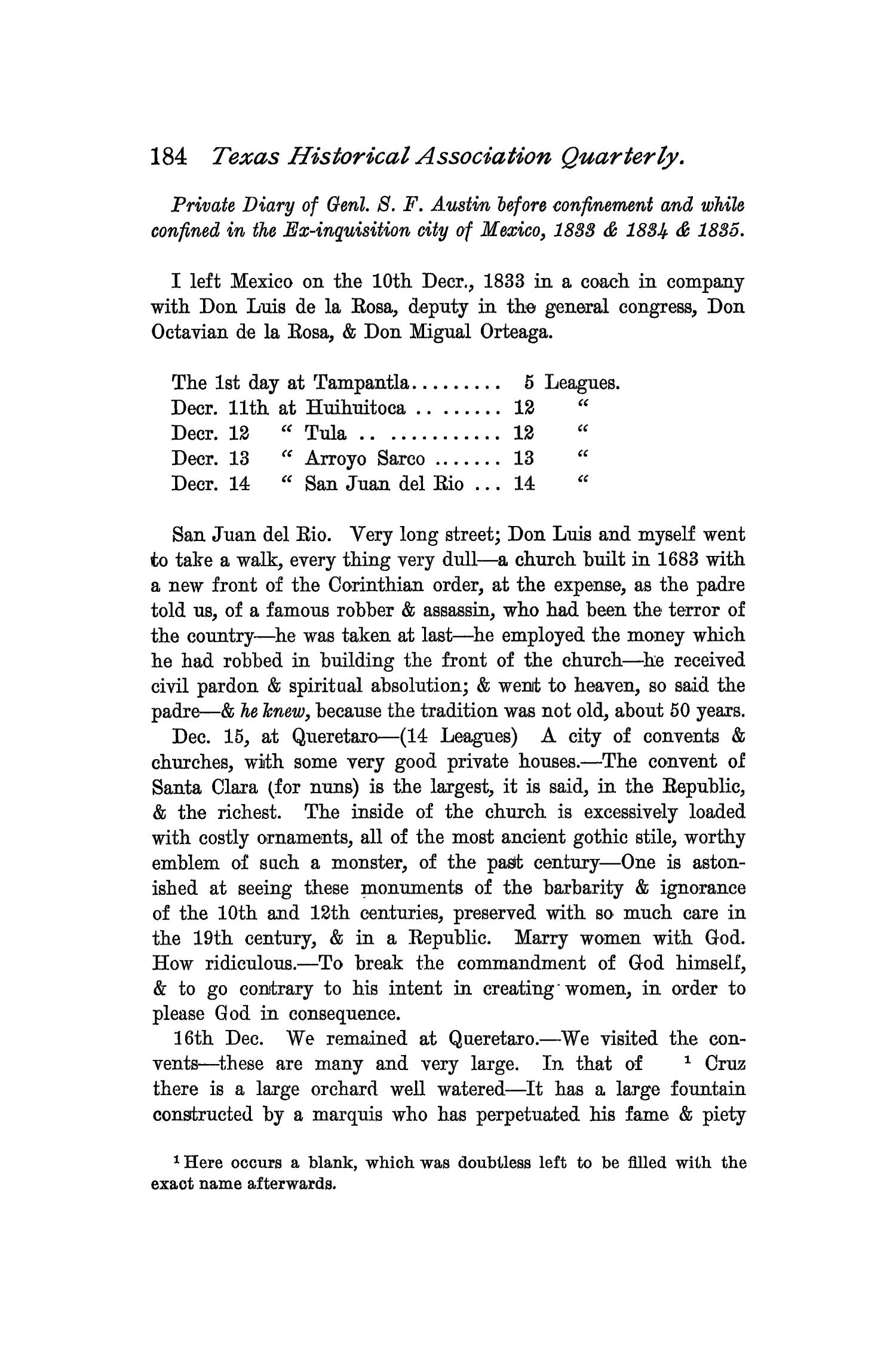 The Quarterly of the Texas State Historical Association, Volume 2, July 1898 - April, 1899                                                                                                      184