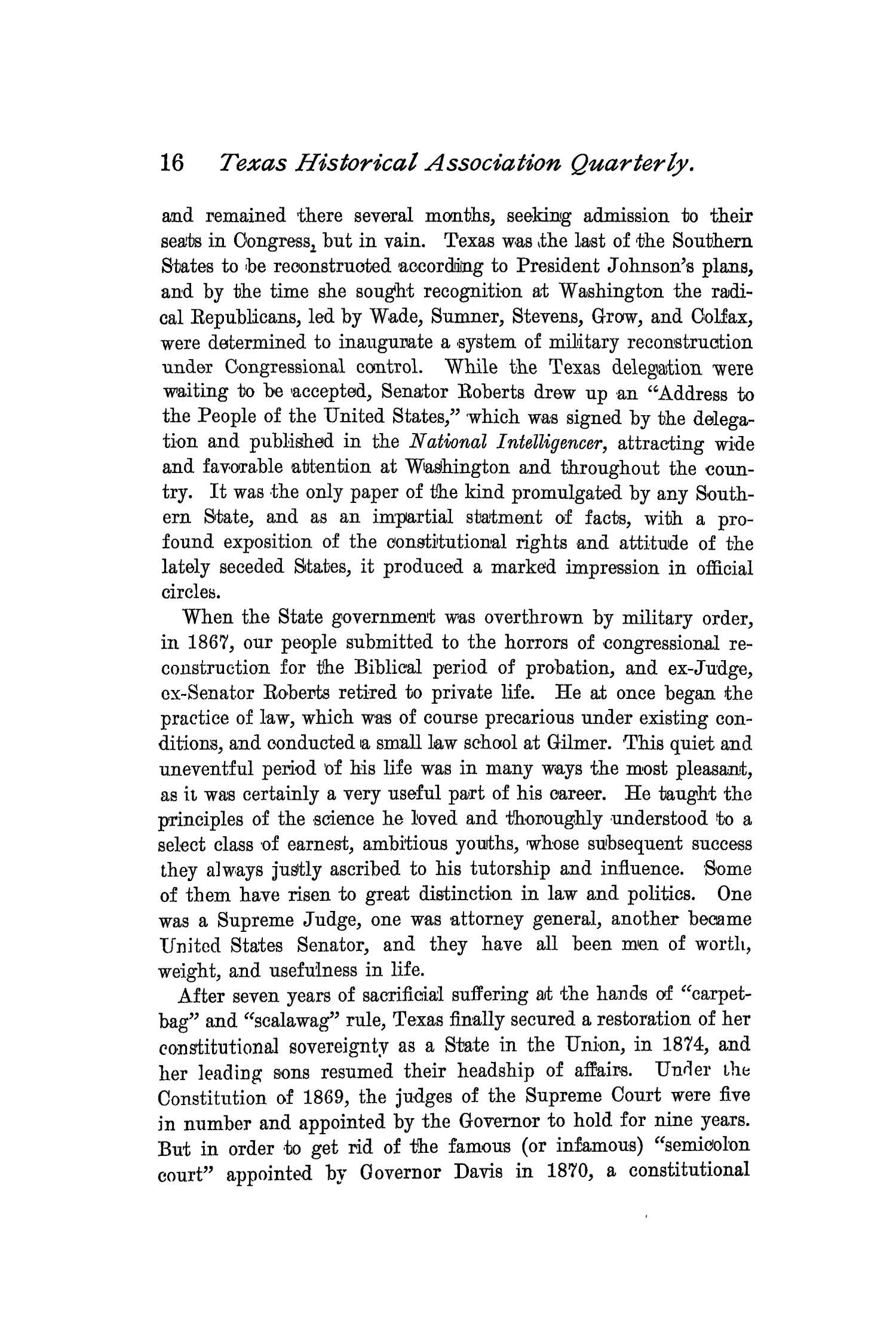 The Quarterly of the Texas State Historical Association, Volume 2, July 1898 - April, 1899                                                                                                      16