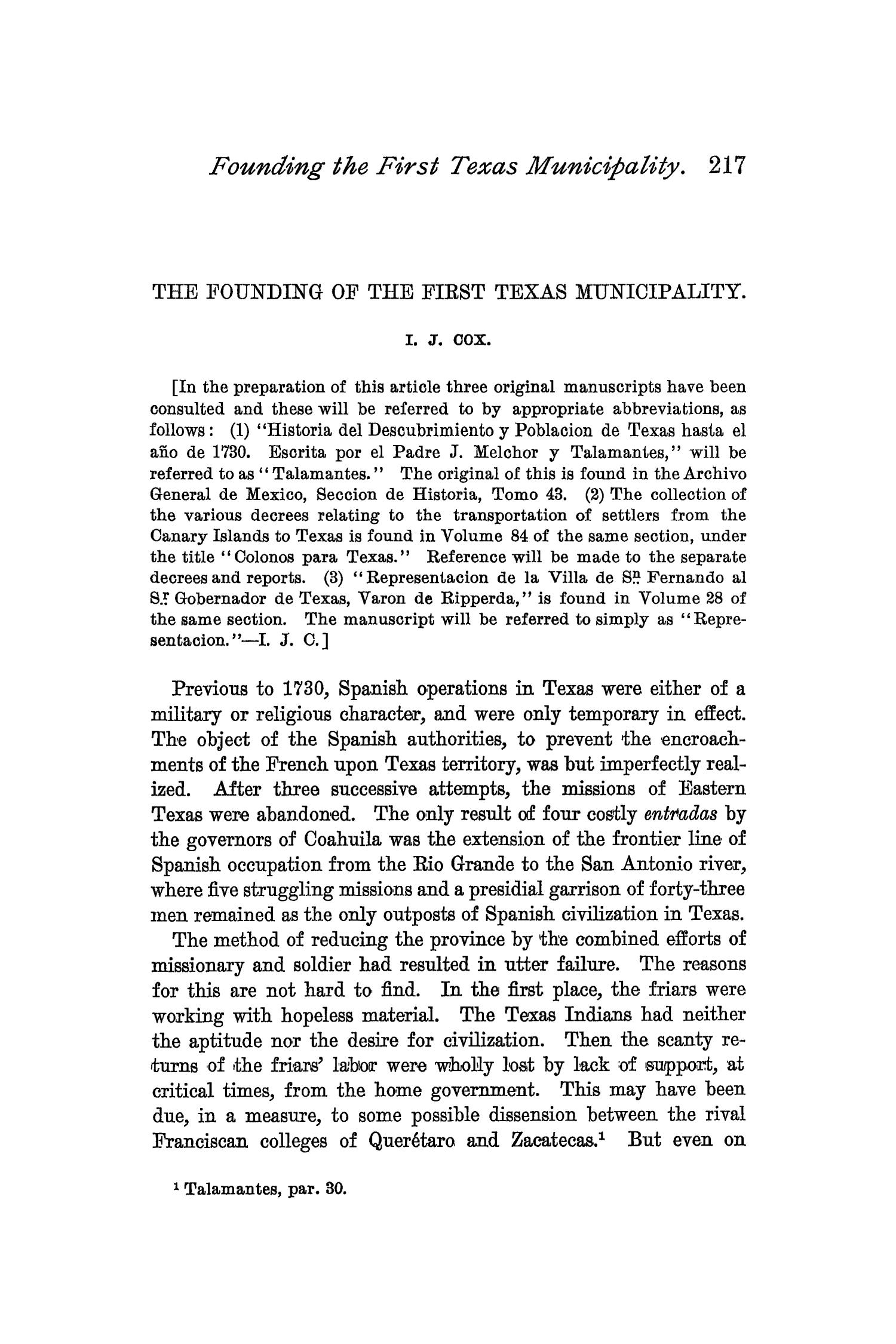 The Quarterly of the Texas State Historical Association, Volume 2, July 1898 - April, 1899                                                                                                      217