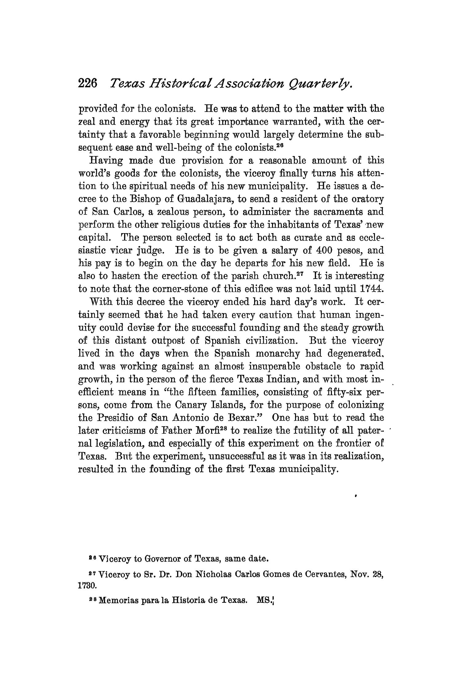 The Quarterly of the Texas State Historical Association, Volume 2, July 1898 - April, 1899                                                                                                      226