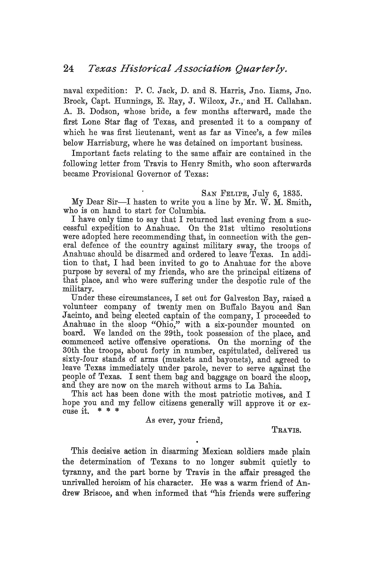 The Quarterly of the Texas State Historical Association, Volume 2, July 1898 - April, 1899                                                                                                      24