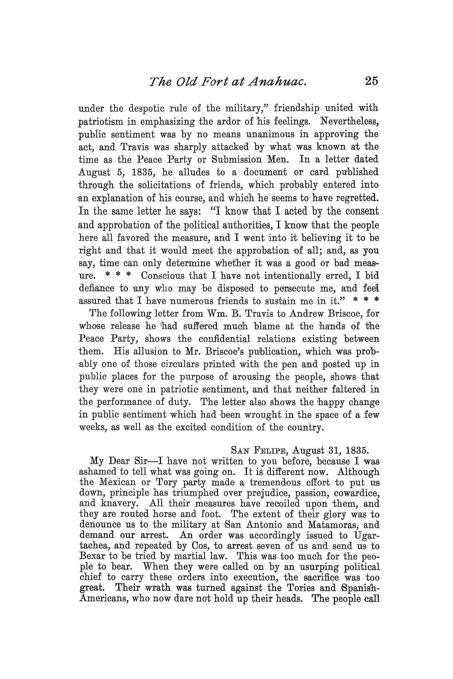 The Quarterly of the Texas State Historical Association, Volume 2, July 1898 - April, 1899                                                                                                      25