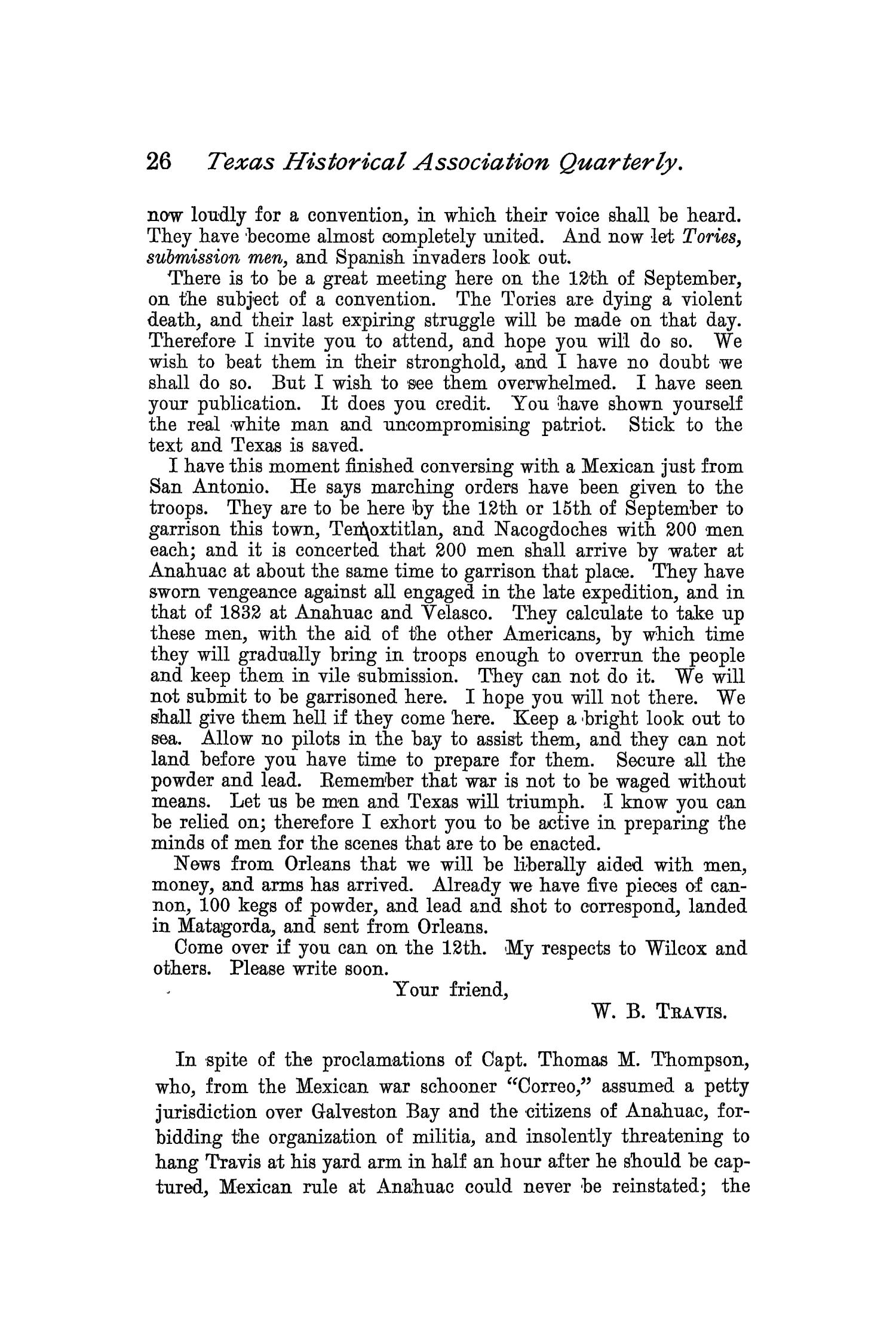 The Quarterly of the Texas State Historical Association, Volume 2, July 1898 - April, 1899                                                                                                      26