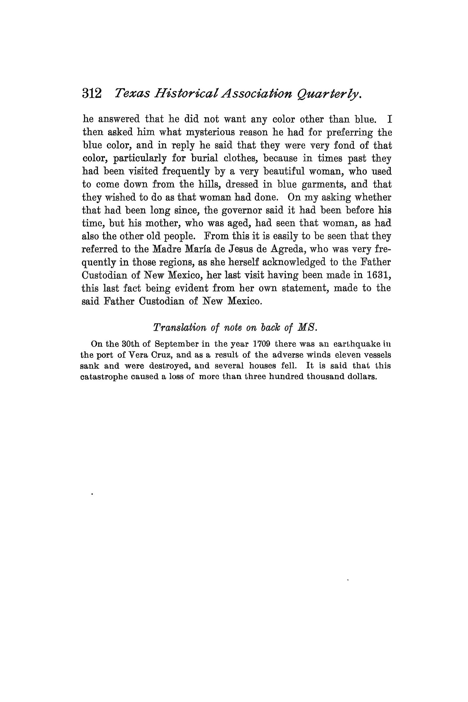 The Quarterly of the Texas State Historical Association, Volume 2, July 1898 - April, 1899                                                                                                      312