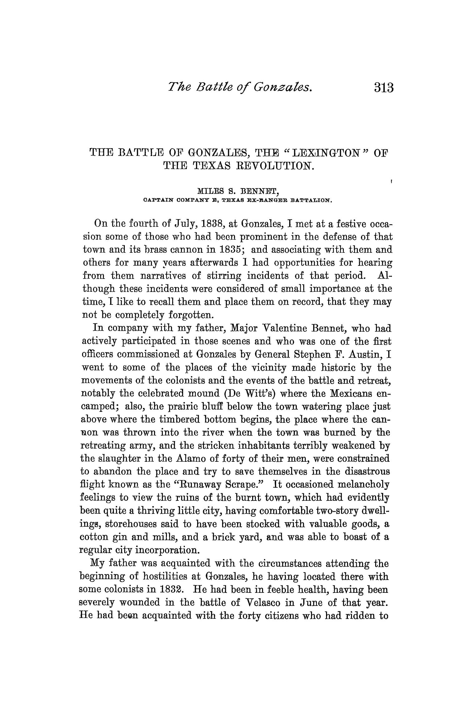 The Quarterly of the Texas State Historical Association, Volume 2, July 1898 - April, 1899                                                                                                      313